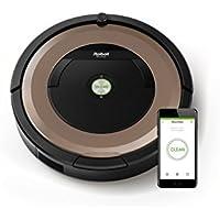 IRobot Roomba 895 - Robot Aspirador,  Sistema de limpieza antienredos,sensores de suciedad Dirt Detect,  todo tipo de suelos, óptimo para el pelo de mascotas,  Wifi, color champán