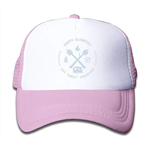ASKYE Mesh Baseball Caps Boy&Girls Youth Snapback Hat Happy Glampers -