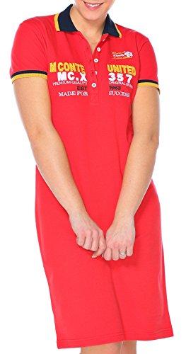 M.Conte Damen-Kleider Polo-Kleid Baumwolle Farben Blau Grün Weiss Größen S M L XL Mecia Rot S