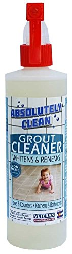 Absolutely Clean AMAZING GROUT CLEANER: Best Grout Cleaner For Tile and Grout Cleaning, Natural Enzymes Clean Even the Dirtiest Grout, Best Grout Cleaner for Ceramic, Marble & Stone, Made in Colorado (USA)