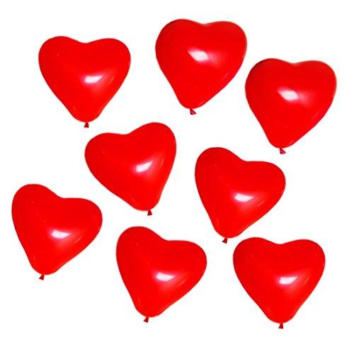 (25 Rote Herzballons Luftballons | Latex Herzförmige Ballons für Party Dekoration Hochzeit Heiratsantrag Jahrestag Geburtstag Helium Deko Geschenk)