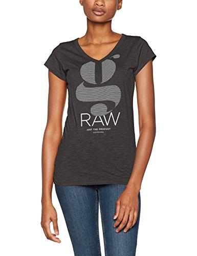 G-STAR RAW Damen T-Shirt Loreen Sp V T Wmn Cap Sl Grau (Raven 976)