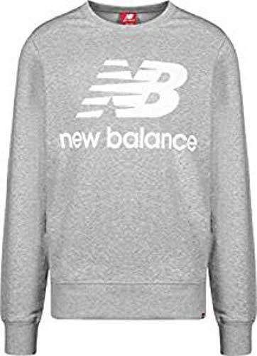 New Balance Herren mt91548Rundhalsausschnitt Sweatshirt, Herren, MT91548, Grau - Athletic Grey, XL Blue Kids Crewneck Sweatshirt