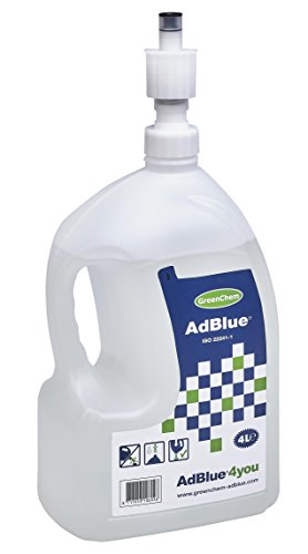 GreenChem 4L Adblue top-up bottle with Spill Proof Nozzle