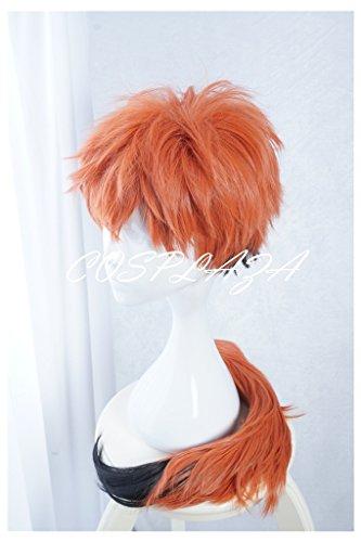COSPLAZA Perücken Cosplay Wig kurz Orange Braun Junge Fashion synthetische Anime Halloween Haar (Orange Fox Kostüm)
