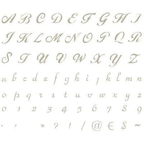 Stencil Abecedario Mini 001. Medidas aproximadas:Tamaño del stencil 12 x 12(cm) Altura M mayúscula 1.4 x 0.7(cm) Altura M minúscula 0.5 x