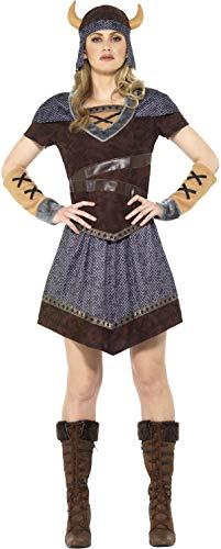 Smiffys Wikingerin Damen Kostüm Karneval Viking Lady Costume Barbarin (Viking Womens Kostüme)