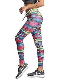 FITTOO Legging Imprimé Femme Pantalon de Sport Floral 3D Collant pour Yoga  Fitness Gym Legging Taille 9e2e3e3b88e