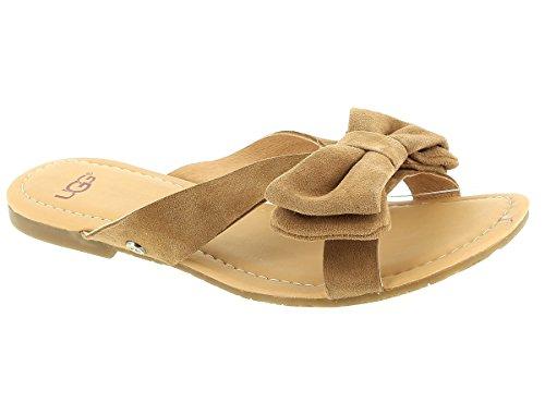 Ugg Chaussures Fonda Sandales Marron en Daim Femme