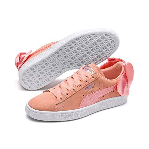 Puma Damen Suede Bow WN's Sneaker, Pink (Peach Bud White), 41 EU
