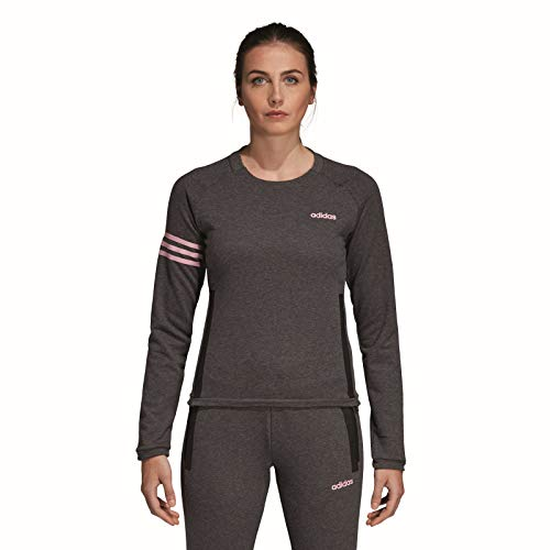 adidas Performance Essential Motion Pack Sweatshirt Damen dunkelgrau/pink, XL Angel Pink Sweatshirt