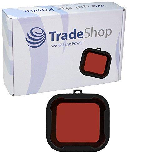 Trade-Shop Unterwasser Tauchfilter Filterhalterung Objektiv Objektivdeckel UV Filter Unter Wasser Tauchen Rot Farbfilter Kamera Farbtauch Filter Lens Kit Red Rotlichtfilter PolarPro Rotfilter Redfilter Snap-On Polar Pro Aqua für GoPro Hero3 +/3 Plus Hero 4 Aqua Series