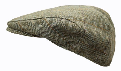 Kids Childrens Derby Tweed Hat Flat Cap by WWK / WorkWear King