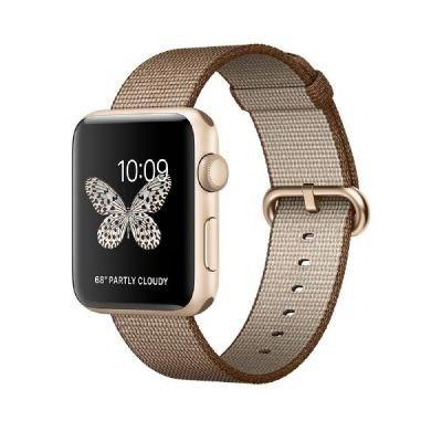 41 qz5rTpdL - [Cyberport] B-Ware Apple Watch Series 2 42mm Aluminiumgehäuse Gold Armband Nylon Kaffee/Karamell für nur 394€ statt 444€