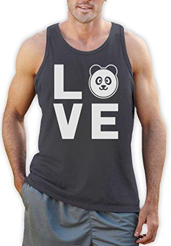 Love Panda - Bärenstarkes Geschenk Tank Top Dunkelgrau