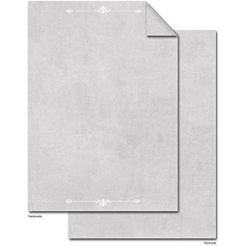 '50fogli DIN A4di carta da lettera einlege fogli carta con grigio