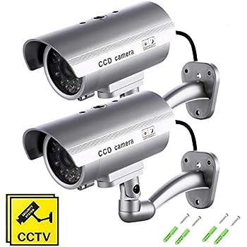 Int/érieur Ext/érieur version:x6.6 Premium Faux//Mod/èle Cam/éra De S/écurit/é CCTV Avec Voyant Clignotant by DELIAWINTERFEL Argent