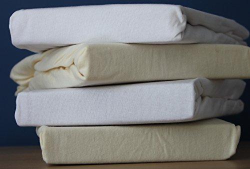 DuDu N Girlie für Kinderbett, Baumwolle Jersey Spannbettlaken Blatt, weiß/cremefarben, 2Stück (Jersey Blau Blatt Kinderbett)