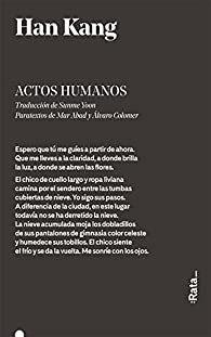 Actos humanos par Han Kang