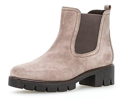 Gabor Damen Chelsea Boots 93.710,Frauen Stiefel,Halbstiefel,Stiefelette,Bootie,Schlupfstiefel,Hoch,Blockabsatz 3cm,F Weite (Normal),Dark-Rose,UK 6.5