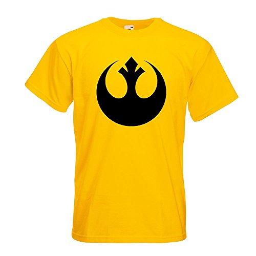 Kiwistar Rebellen-Allianz / Jedi T-Shirt in 15 verschiedenen Farben Herren Funshirt bedruckt Design Sprüche Spruch Motive Oberteil Baumwolle Print Größe S M L XL XXL Gelb