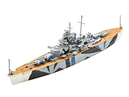 Revell 05822 Modellbausatz, Schiff 1:1200 - Tirpitz, Level 4, orginalgetreue Nachbildung mit vielen Details