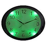 FISHTEC Horloge Ovale Luminescente - Détecteur d'obscurité - Silencieuse