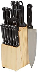 AmazonBasics Messerblock, 14-teiliges Set