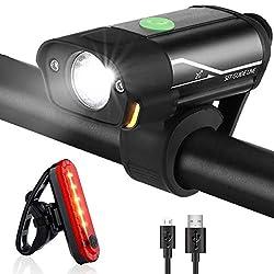 StVZO Zugelassen Fahrradbeleuchtung IP44 Wasserdicht Fahrradlampe 60 Lux 4 Umschaltbar Leuchtmodi Frontlicht /& R/ücklicht Set Degbit Led Fahrradlicht Set Automatische Lichtsteuerung Fahrradlichter