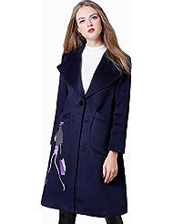 Le Manteau de Broderie Haut de Gamme a Été Mince Et Long Manteau