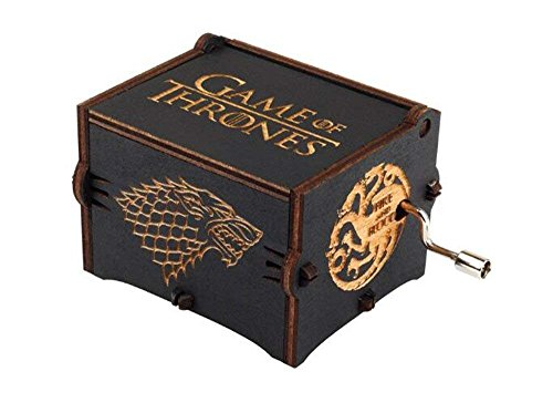 Funmo - Personalizable Music Box, Game of Thrones Scatola Decorativa in Legno Migliori Regali di Natale