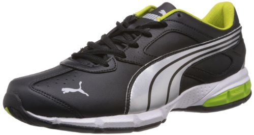 Puma Men's Tazon 5 Black, Silver and Lime Punch Running Shoes - 9 UK/India (43 EU)  available at amazon for Rs.3299