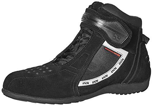 IXS Faro-Stivali da moto uomo pelle/tessuto-Nero