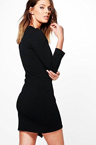 Elektrische Fuchsie Damen Quinn Bodyconkleid Mit Tiefem Ausschnitt Und Stufensaum Elektrische Fuchsie
