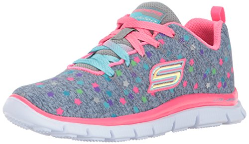 Skechers Girls' Skech Appeal-Star Streamer Trainers, Grey (Grey/Multi), 2 UK 35 EU