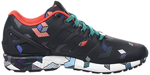 adidas Originals ZX Flux Herren Low-Top Schwarz (Core Black/Core Black/Eqt Green S16)