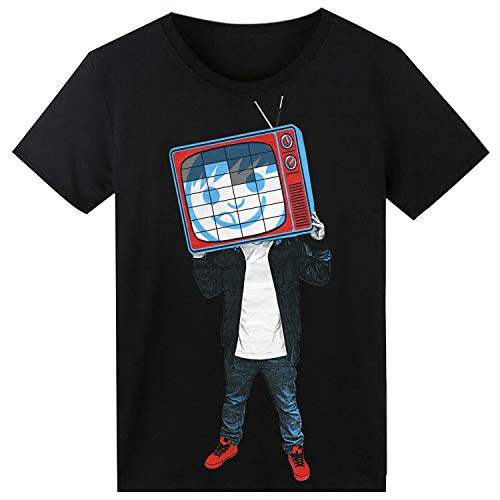 Led Equalizer Tshirt Sound Aktiviertes,Party Hiphop Cosplay Disco DJ Leucht T Shirt TV-Mann