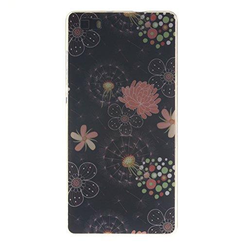 Anlike Huawei P8 lite Hülle, TPU Silikon Gel Schutzhülle / Schutz Hülle / Handy Hülle / Handytasche / Silikon Hülle Case / Flexibel Handy Tasche Cover für Huawei P8 lite (5 Zoll) - Bunt Blume