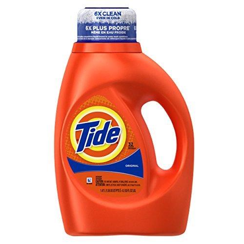 Tide Original Scent Liquid Laundry Detergent, 50 Fluid Ounce (32 Loads), 2 Count by Tide