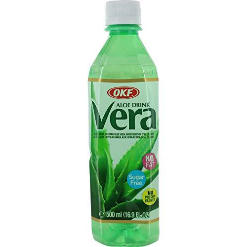 OKF Aloe Vera Getränk (Zuckerfrei), 20er Pack (20 x 500 ml)