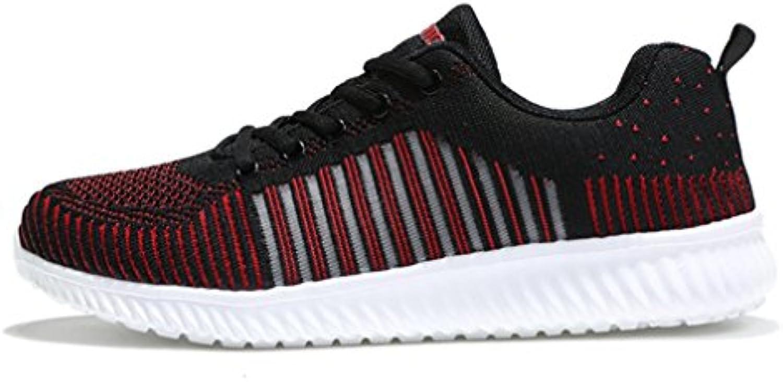 Herren Sneakers Modische Rundzehen Laufschuhe Freizeitschuhe Bequeme Atmungsaktiv Fitnessschuhe Leichtgewicht