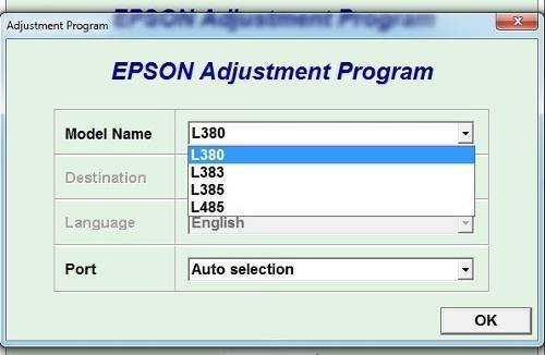Epson Resetter L380, 383, 385, 485 Adjustment Program One PC (Send By CD & User Manual guide)