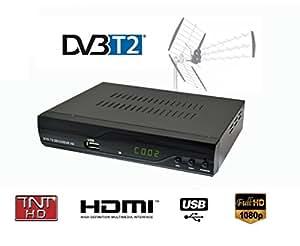 Strom 504 Décodeur TNT 1080P Full HD DVB-T2 HDMI ET PERITEL / Dolby / Multimédia / Lecteur H.264 / MPEG-2/4