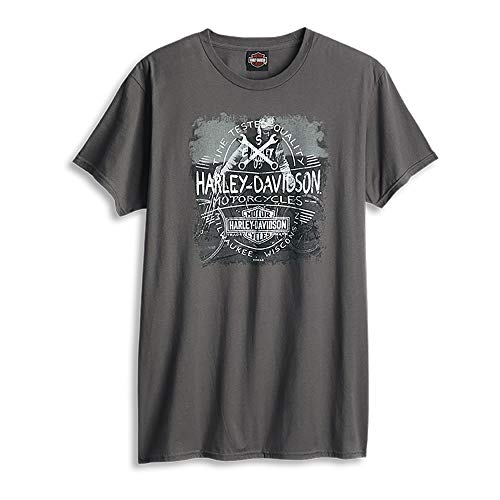 HARLEY-DAVIDSON® Time Stamp T-Shirt and Warr's London Wrecking Crew Back (XX-Large) (Harley Xxl T-shirts Davidson Herren)