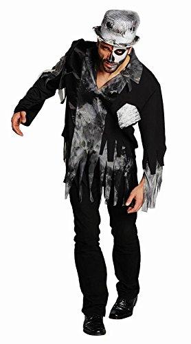 Rubies Zombi Bräutigam mit Zylinder, Größe 52, Zombie Oberteil mit Halloween Zylinder, Erwachsenen Halloween Kostüm, - Bräutigam Zombie-kostüm