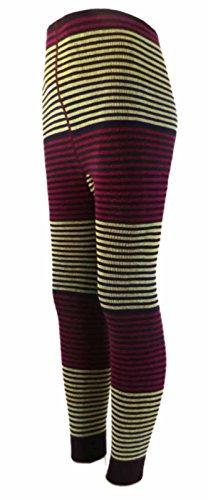 Kinder Leggings Feinringel Farbe: Beerentöne, Größe: 31/34 bzw. 122/128