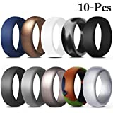 Fascigirl 10PCS Silicone Rings Creative Fashion Wedding Rings for Sports