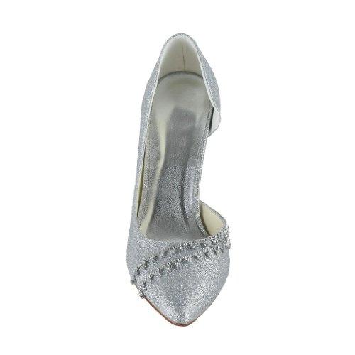 Jia Jia Wedding 8390B5 chaussures de mariée mariage Escarpins pour femme Argent