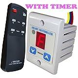 Rectus Enterprises Plastic Digital Remote Fan Regulator Switch With Timer - TR101