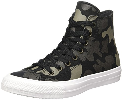 Converse Chuck Taylor All Star Ii Reflective Camo, Sneakers Hautes Mixte Adulte Multicolore (Charcoal/Black/White)